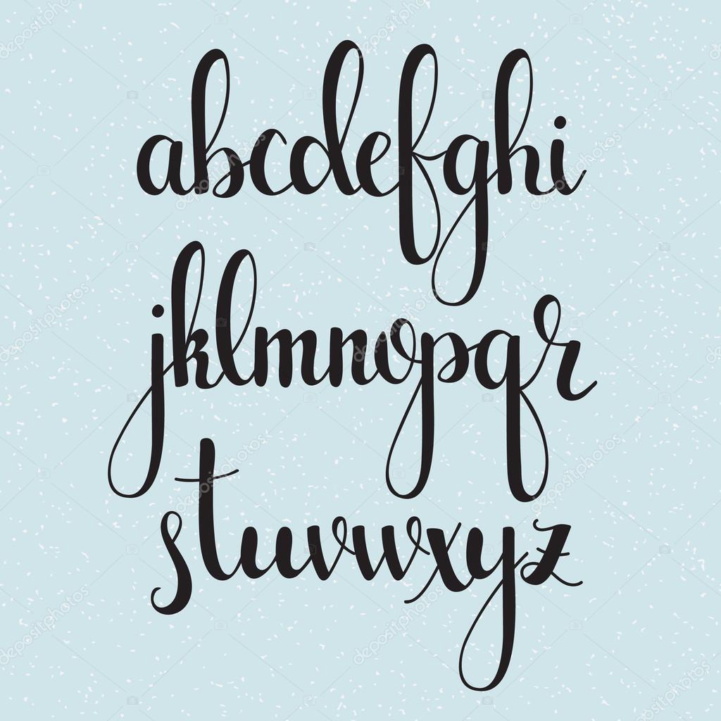 Célèbre cursive manuscrite brosse style calligraphie — Image vectorielle  YX15