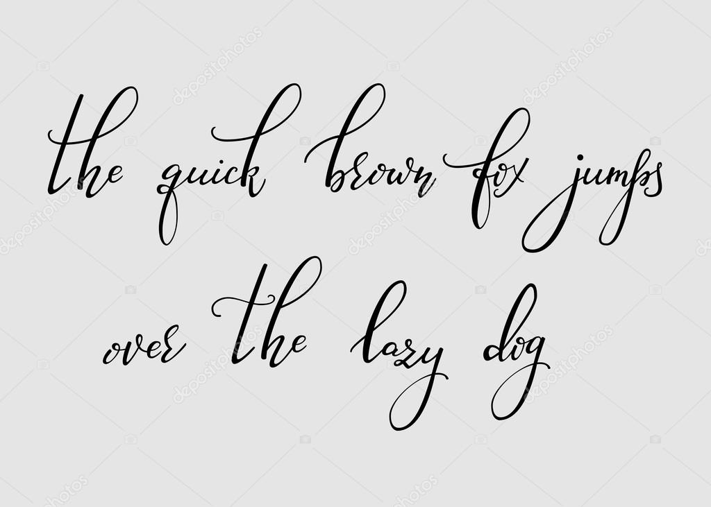 Handwritten Pointed Pen Ink Style Modern Calligraphy Cursive Font Alphabet Cute Letters Isolated Letter Elements