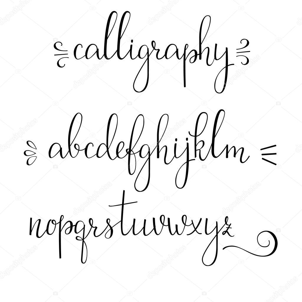 Calligraphy cursive font stock vector lenaro 90162182 Calligraphy alphabet cursive