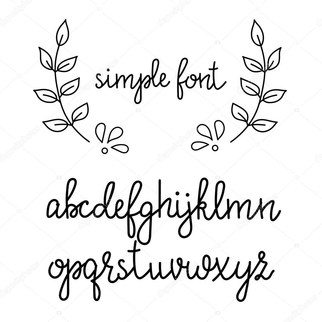 Font corsivo scritte a mano semplice vettoriali stock for Nomi in corsivo gallery