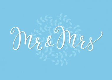 Mr Mrs Wedding simple lettering decor