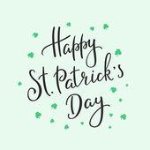 Happy St Patricks den nápisy