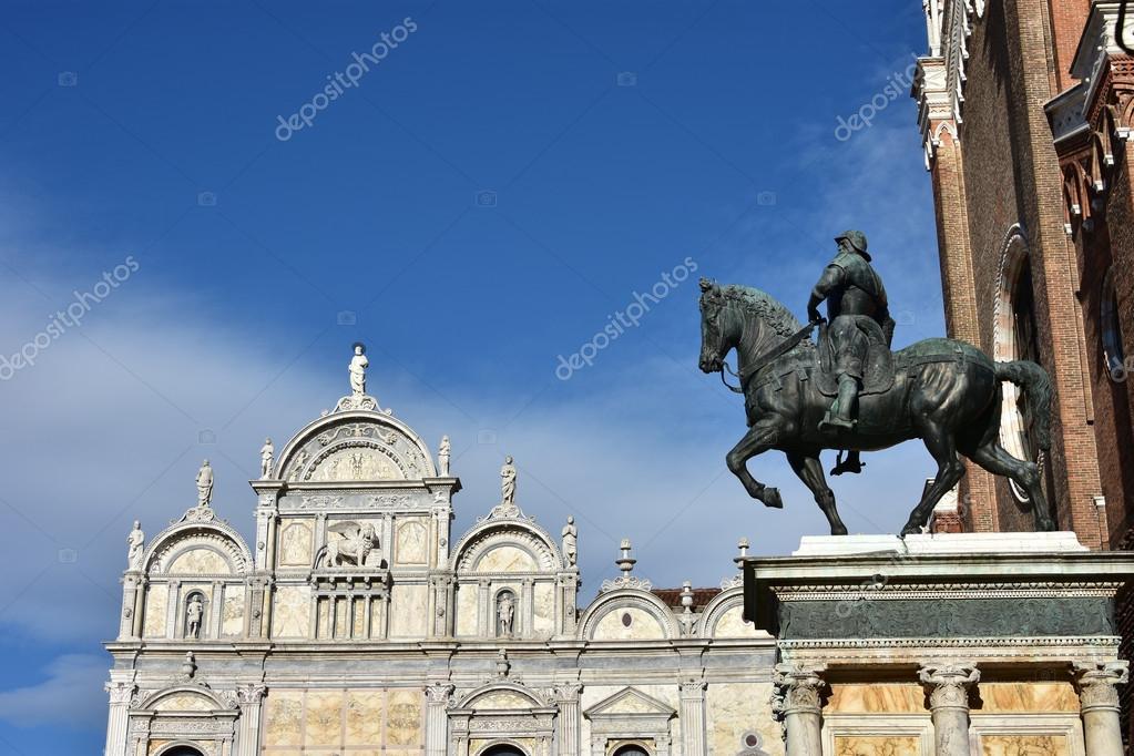 Monumento a Bartolomeo Colleoni y Scuola Grande di San Marco, en ...