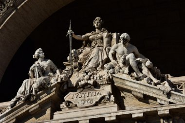 Goddess of Justice with sword