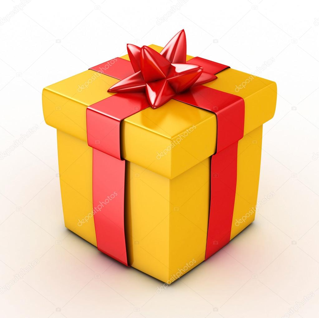 3d yellow gift box isolated stock photo mstdesign 84285400 3d yellow gift box isolated stock photo buycottarizona Gallery