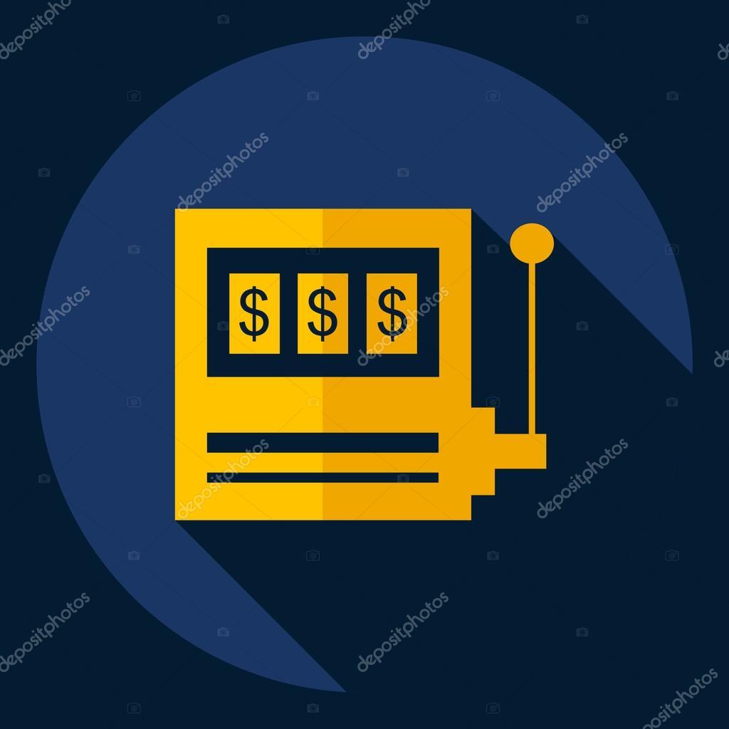 Design piatto moderno con slot icona ombra vettoriali for Design piatto