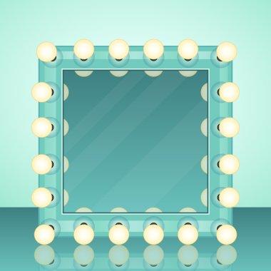 """Картина, постер, плакат, фотообои """"зеркало макияжа реалистичный векторный фон зеркало раме зеркала настенное круглые декоративное квадратные овальные"""", артикул 114986614"""