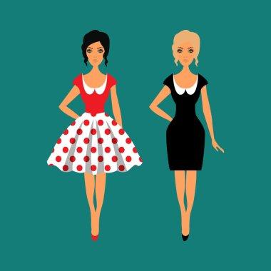 Woman wardrobe accessories set