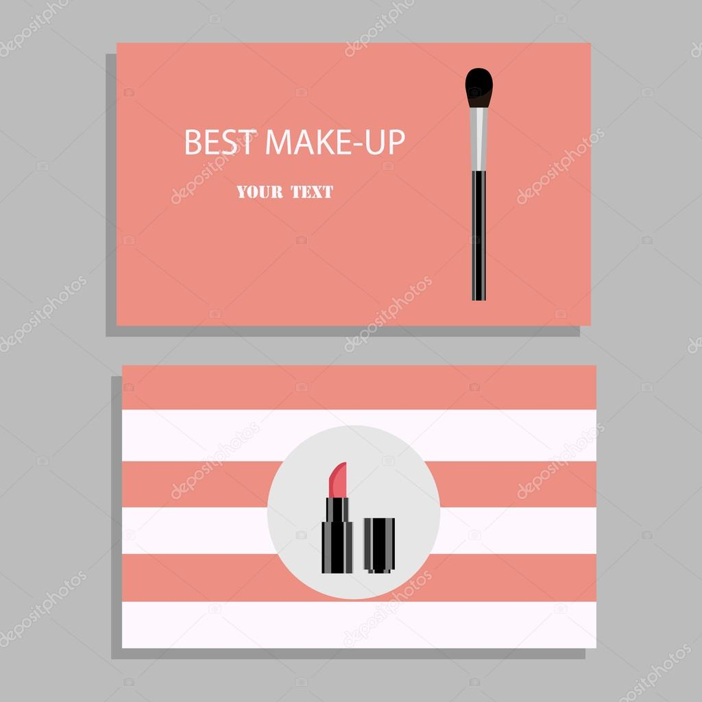 Makeup artist business card vector template with items pattern makeup artist business card vector template with items pattern stock vector alramifo Image collections