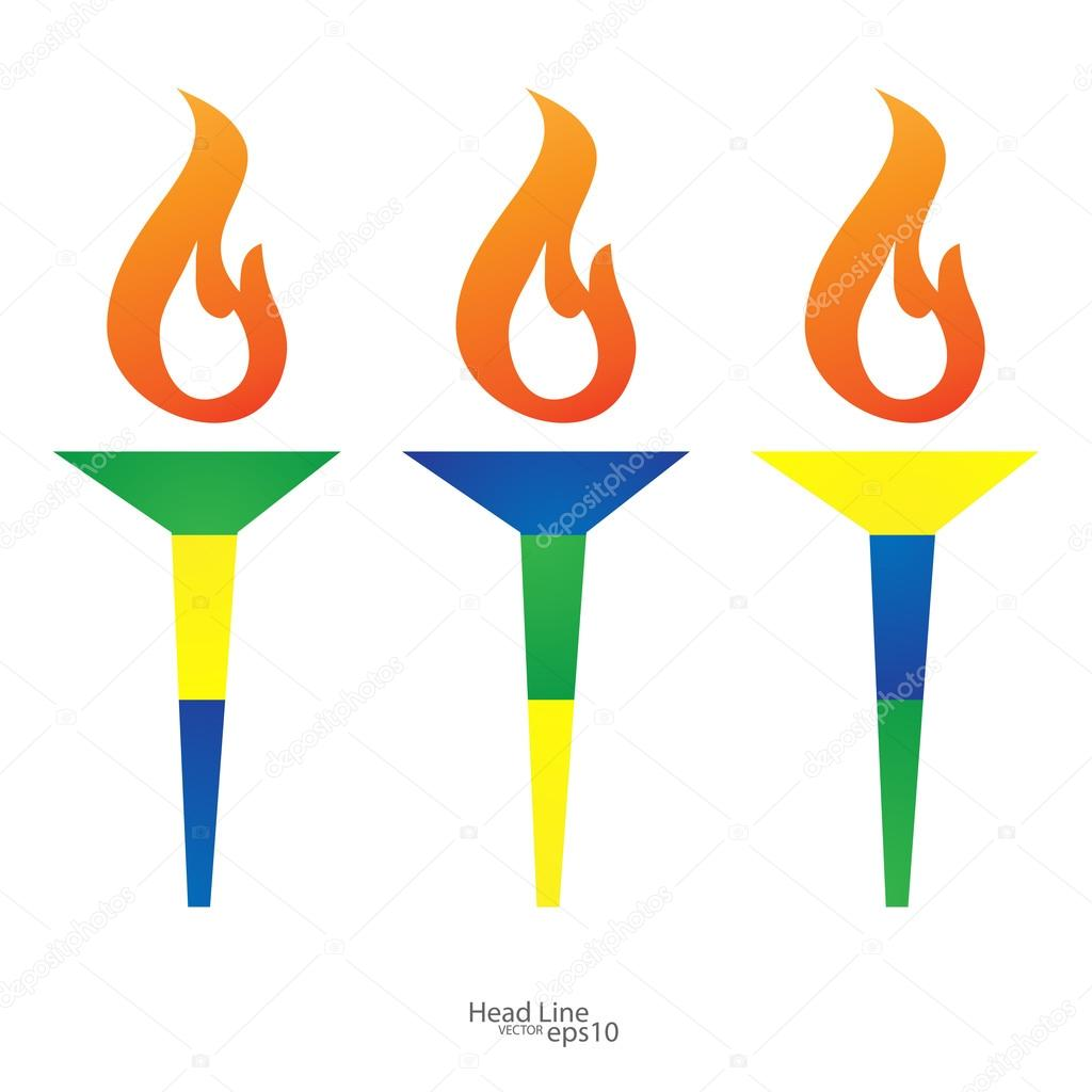 Torch vector icon isolated olimpic fire symbol of olympic games torch vector icon isolated olimpic fire symbol of olympic games stock vector biocorpaavc Images