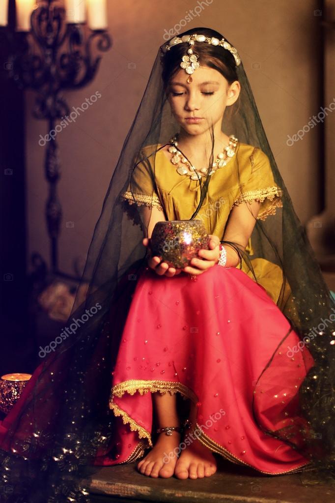 Photos Indian Princesses Beautiful Little Indian Princess Girl Stock Photo C Ogs13 83854340
