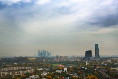 Wide angle shot of Moscow