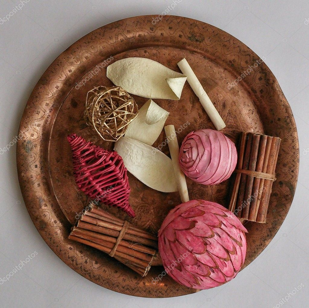 Decorative stuff on ancient copper plate view from above u2014 Photo by nelladel_clashot & Decorative stuff on copper plate u2014 Stock Photo © nelladel_clashot ...