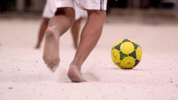 soccer game at Tavares Bastos Favela