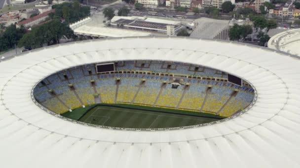 letecké záběry ze stadionu Maracana