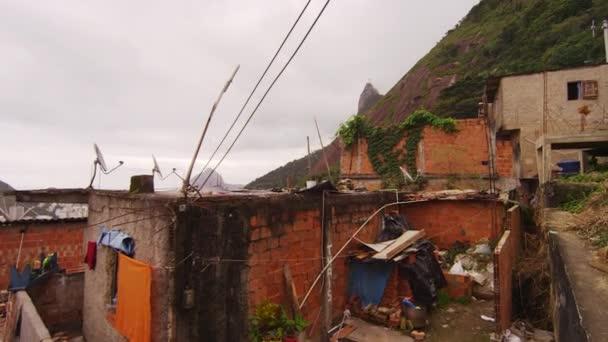 homes in a favela in Rio de Janeiro