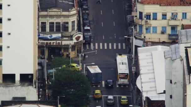 busy intersection in Rio de Janeiro