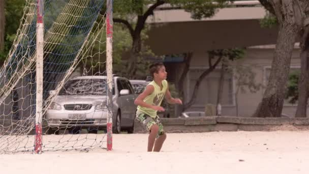 goalie trying to block soccer ball