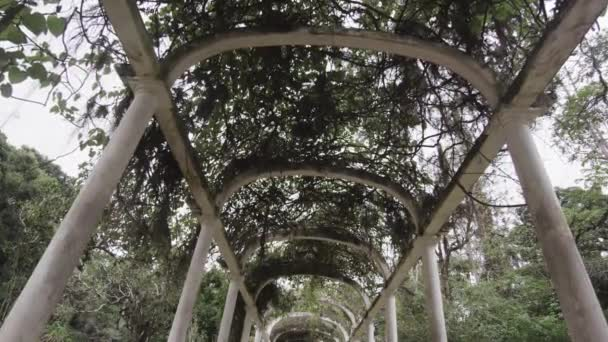 walkway beneath the Jardim Botanico arches