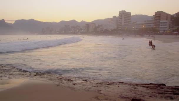 Surfers in the Atlantic ocean.