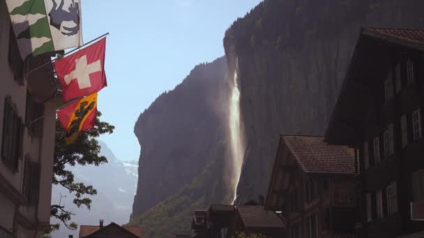 poblíž Lauterbrunnen ve Švýcarsku