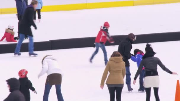 ice skaters on the Central Park ice rink