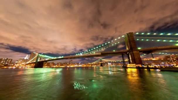 Brooklyn and Manhattan Bridge in New York