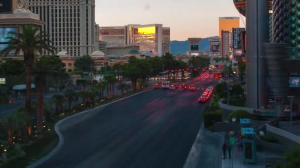 Timelapse shot of the Vegas strip