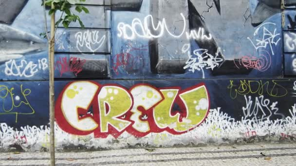 graffiti na zdi v Rio de Janeiru