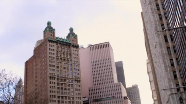 windowed buildings in downtown New York City