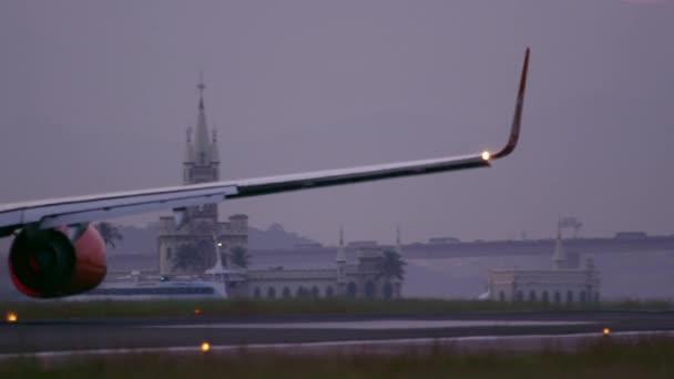 plane taking off at Rio de Janeiro