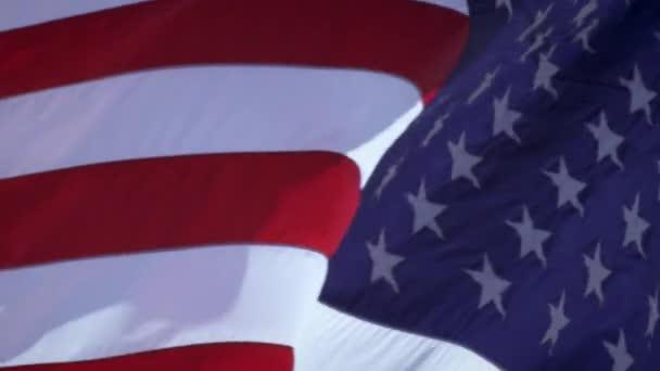 American flag flying over the Korean War Veterans Memorial