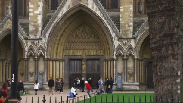 Doors of Westminster Abbey in London. u2014 Stock Video : abbey doors - pezcame.com