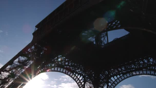 Sun from under the Eiffel Tower