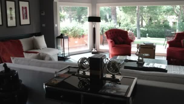 Obývací pokoj v domě v Itálii