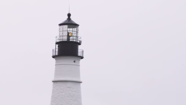Lantern room of the Portland Head Light in Maine