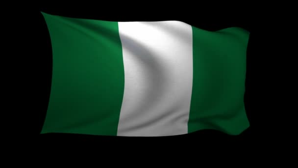 flag of Nigeria waving in the wind