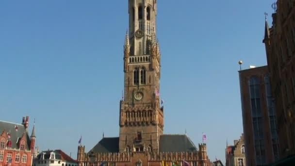 Tilt down of the Belfry of Bruges, Belgium.