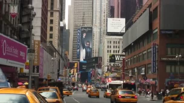 Shot of Times Square in New York City.
