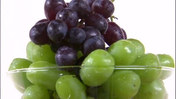 grapes rotating in a vase
