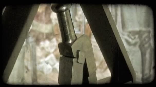 Old printing press. Vintage stylized video clip.