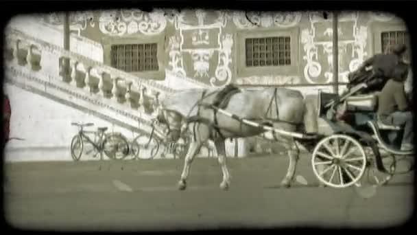Italský kočár. Vintage stylizované videoklip.