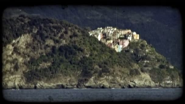 Italy Beach Town. Vintage stylized video clip.
