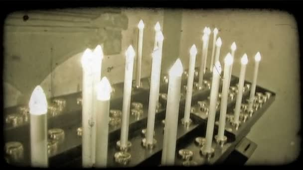 Candele in Cattedrale. Lannata stylized clip video