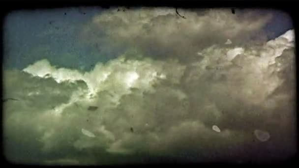 Time-lapse clouds . Vintage stylized video clip.