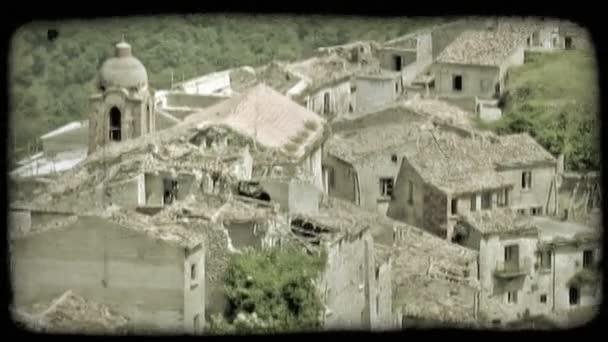 Italian town. Vintage stylized video clip.