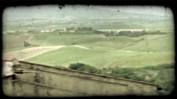 Italian landscape. Vintage stylized video clip.