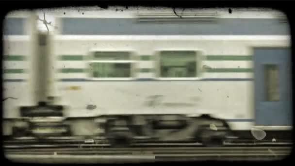 Elhaladó vonat. Vintage stilizált videoklip.