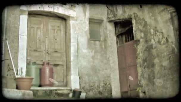 Zříceniny města. Vintage stylizované videoklip