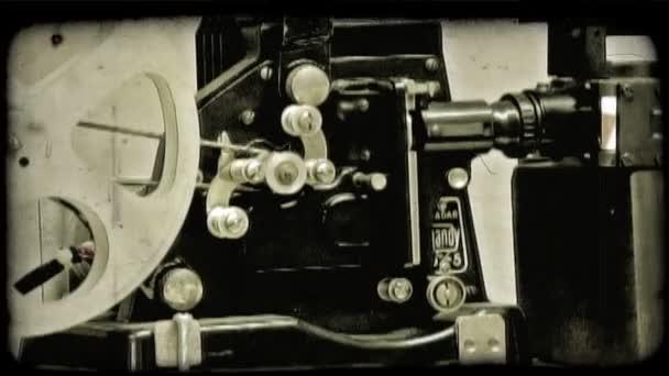 Film Camera. Vintage stylized video clip.